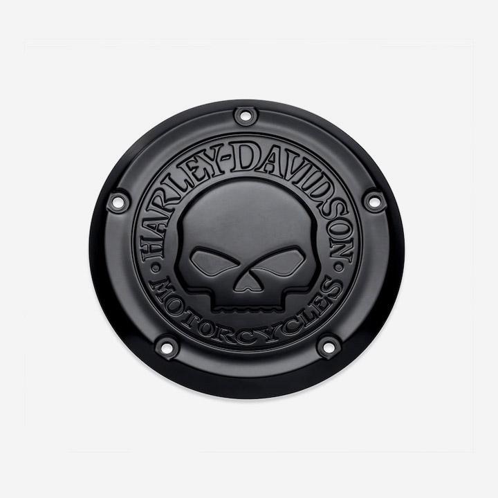 윌리G 스컬 더비 커버 소프테일 (블랙)
