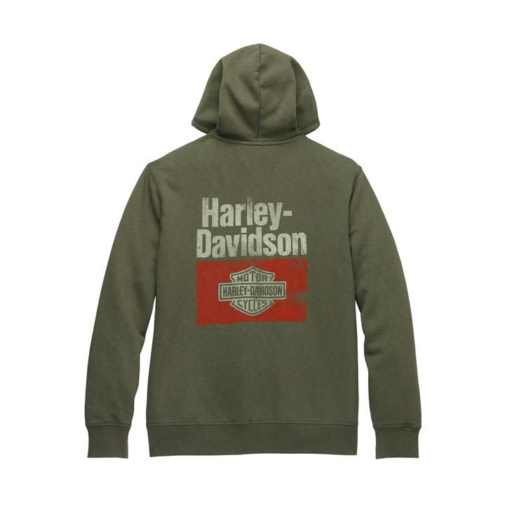 할리데이비슨 남성 헤리티지 그래픽 후드티셔츠