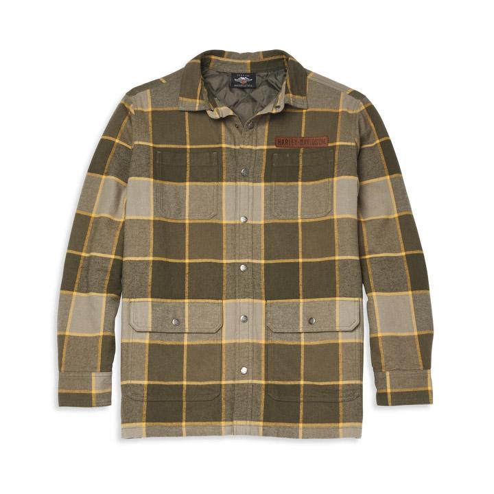 할리데이비슨 남성 빈티지 플래드 셔츠재킷
