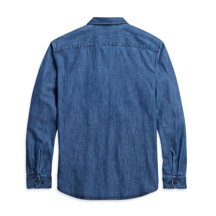 할리데이비슨 남성 데님 긴팔셔츠 BLUE