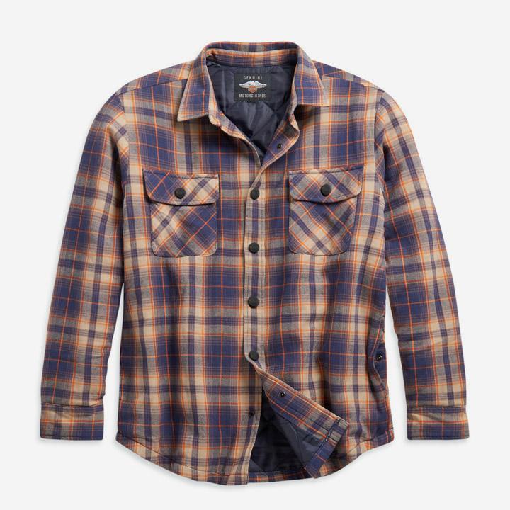 남성 퀼티드 라이닝 플래드 셔츠재킷 ORANGE