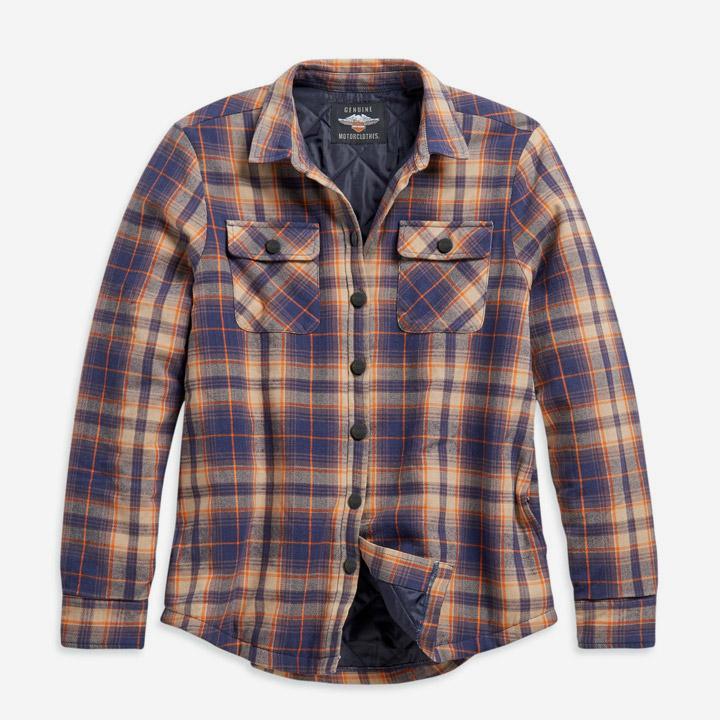 여성 퀼티드 라이닝 플래드 셔츠재킷 ORANGE