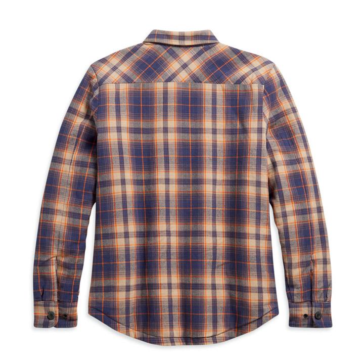 할리데이비슨 여성 퀼티드 라이닝 플래드 셔츠재킷 ORANGE