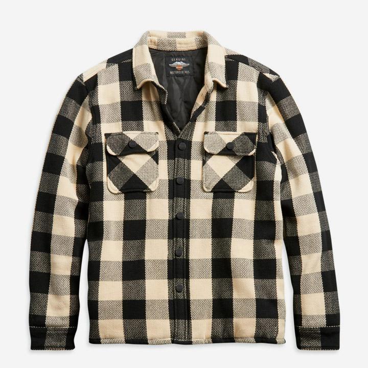남성 빈티지 플래드 셔츠재킷 WHITE