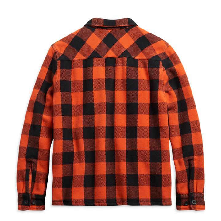할리데이비슨 남성 빈티지 플래드 체크 셔츠재킷 ORANGE
