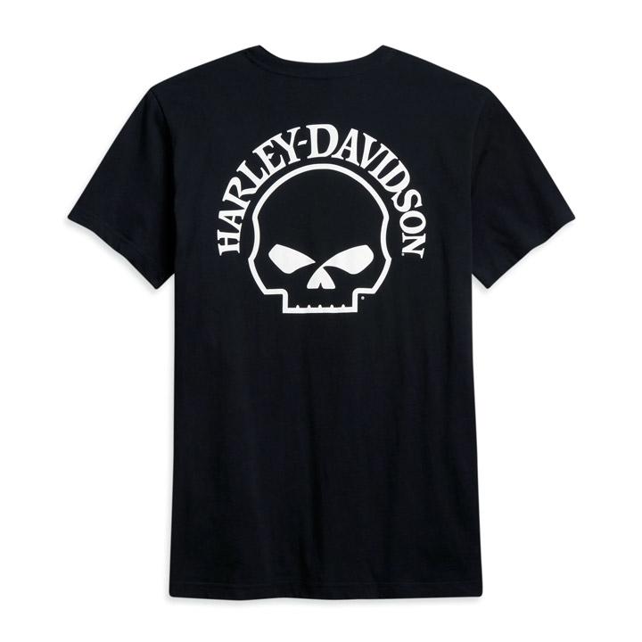 할리데이비슨 남성 스컬 포켓 반팔티셔츠 BLACK