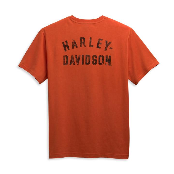 할리데이비슨 남성 윙드 이글 로고 반팔티셔츠