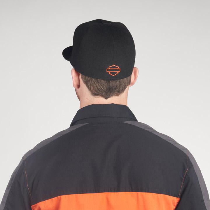 할리데이비슨 남성 컬러블록 로고 반팔셔츠