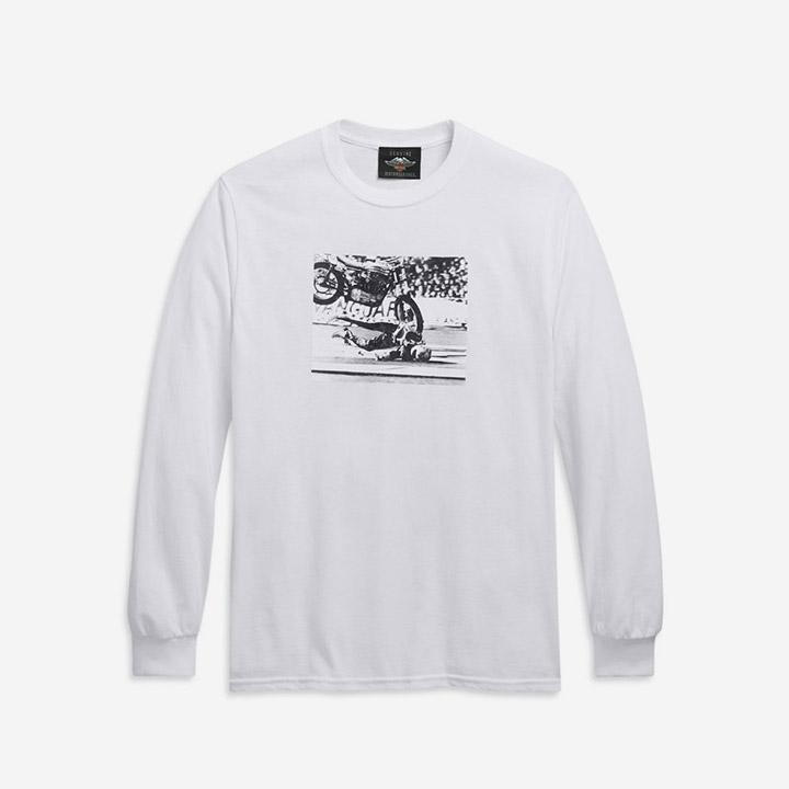 [LIMITED] 남성 이블크니블 긴팔티셔츠 WHITE