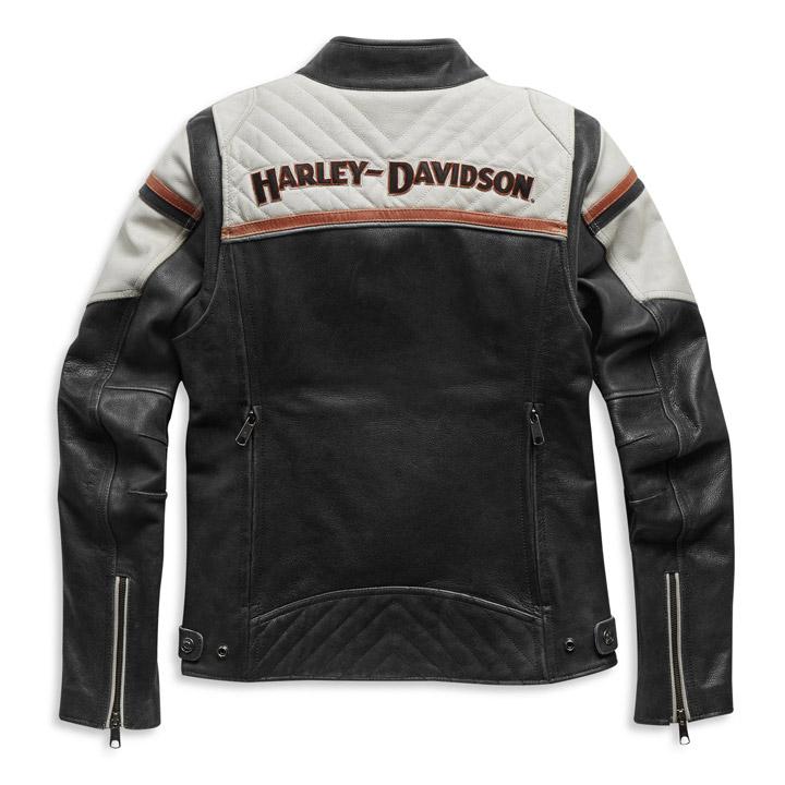 할리데이비슨 여성 트리플벤트 미스 엔쑤지스트Ⅱ 가죽재킷
