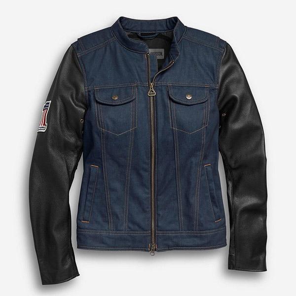 여성 아테리얼 데님 라이딩 재킷
