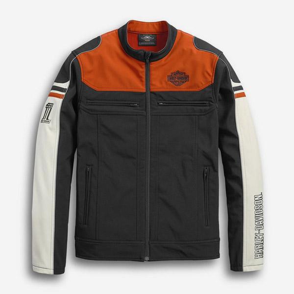 남성 컬러블록 소프트쉘 캐주얼재킷