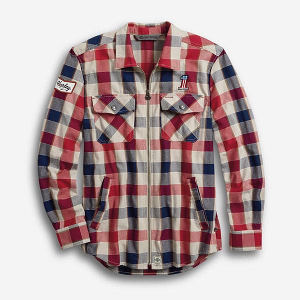 남성 #1 플래드 집업 셔츠재킷