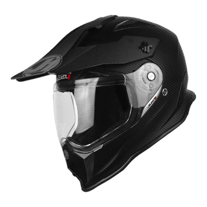 저스트원 J14 카본 듀얼 오프로드 헬멧 BLACK MATT