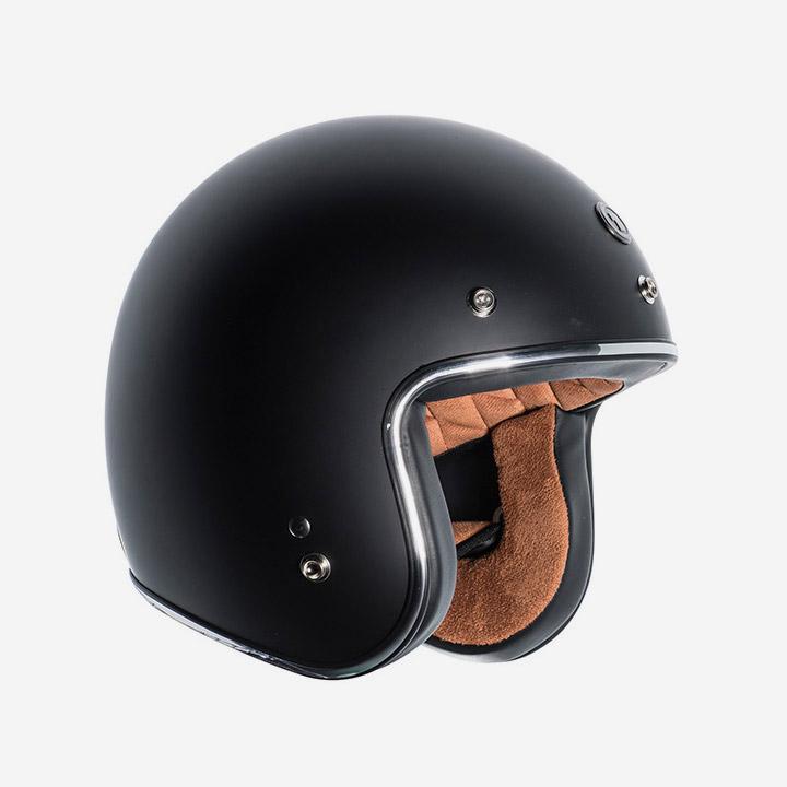 MATTE BLACK 오픈페이스 토크 헬멧